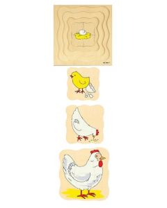Life Cycle Chicken 4 Layer Puzzle 31pcs