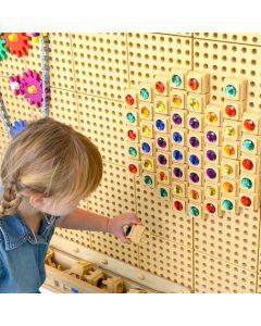 STEM Wall Gemstone Blocks 72pcs