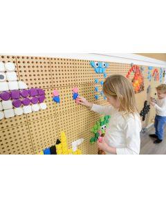 STEM Wall Colour Geo Shapes 256pcs