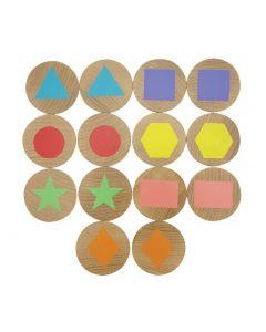 Shapes Memory Discs Game 14pcs