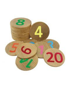 Numbers Memory Discs Game 40pcs