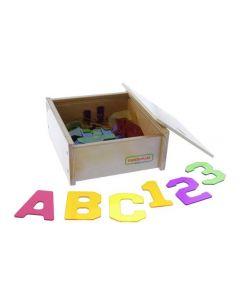 Translucent Alphabet and Numbers 37pcs