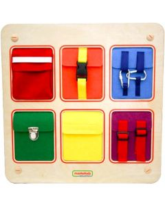 Activity Board - Buckles, Clips and Velcro