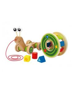 Snail Pull and Play Rolling Shape Sorter