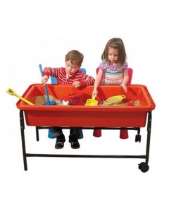 Red Sand & Water Playtray, Frame & Lid 58cmH