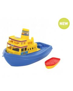 Large Ferry with Rowboat 36cmL