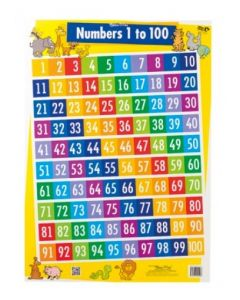 Numbers 1-100 Double-Sided Chart