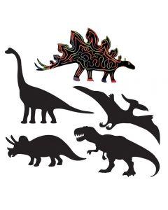 Scratch Art Dinosaurs 50pcs