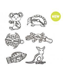 Indigenous Animal Designs 30pcs