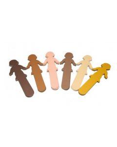 Skin Tone Kids Craft Sticks 24pcs