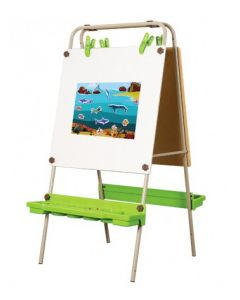 Double Sided Magnetic Whiteboard Easel