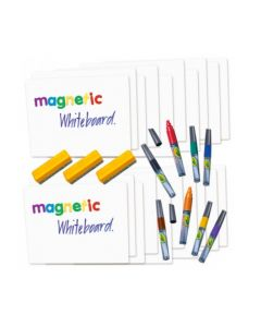 Magnetic Whiteboards, Markers and Dusters Kit 31pcs