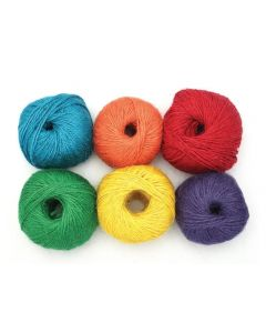 Jute Cord Coloured Pack of 6