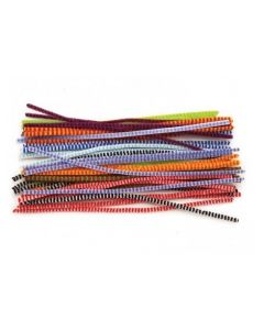Chenille Stems Striped 30cm x 50pcs