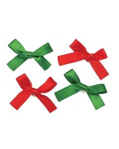 Adhesive Christmas Satin Ribbon Bows 50pcs