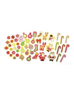 Adhesive Foam Christmas Shapes 92pcs