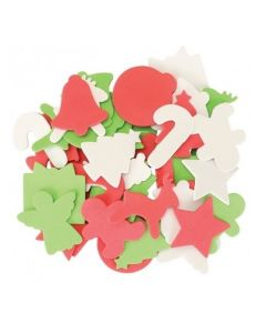 Christmas Foam Shapes 100pcs