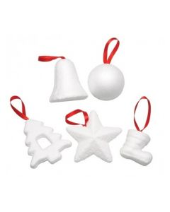 Poly Christmas Decorations 24pcs