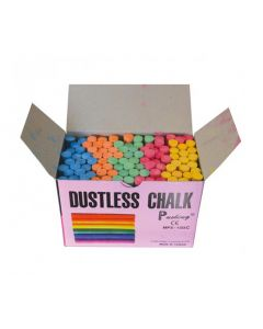Coloured Dustless Chalk 100pcs