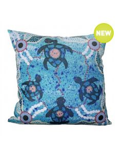 Turtle Kin Cushion With Polyester-Filled Insert