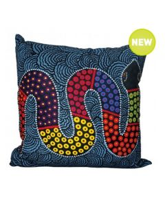 Rainbow Serpent Cushion With Polyester-Filled Insert