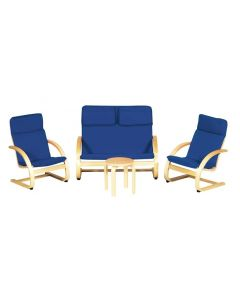 Kids Two Seater Couch, 2 Singles Chairs and Table
