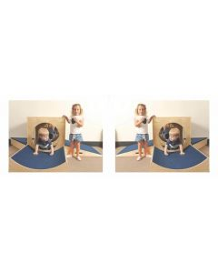 Two Birch Ply Mirror Cube Playsets 8pcs