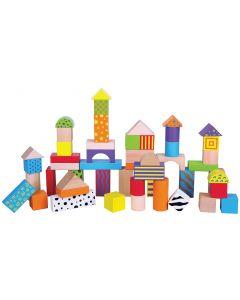 Wooden Pattern Building Blocks 50pcs