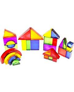 Acrylic Building Blocks in Wooden Storage Box 30pcs