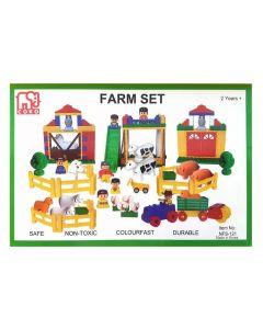 Coko Block Farm Set in Container 121pcs