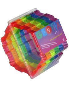 Geoshapes Hexagons Crystal Fluoro Pack 24pcs