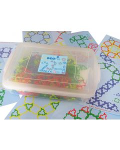 Mini Geofix Crystal Fluoro Set With Work Cards in Tub 410pcs