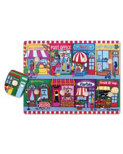 Shopping in Our Neighbourhood Knobbed Reveal Puzzle 8pcs