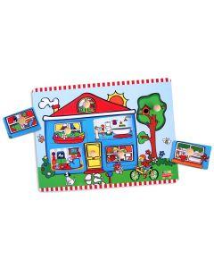 Cottage Knobbed Reveal Puzzle 7pcs