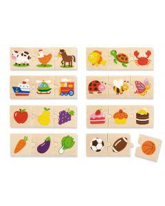 Set of 8 Association 3 Piece Puzzles