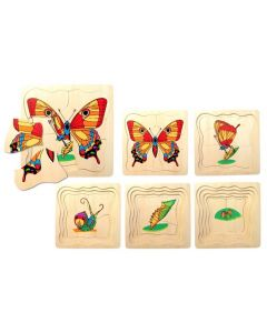 Life Cycle of the Butterfly 5-Layer Puzzle 20pcs