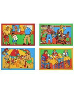 Different Families Puzzle Set of 4