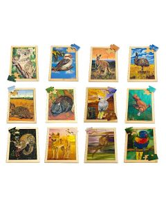 Large Aussie Animals Puzzles & Posters Set of 24