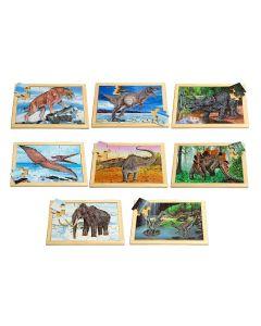 Large Prehistoric Animals Puzzles & Posters Set 16pcs