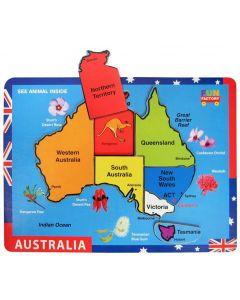 Australia Map Puzzle Raised