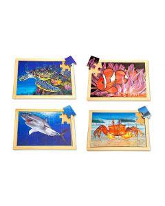 Large Sea Creatures Puzzles & Posters Set 8pcs
