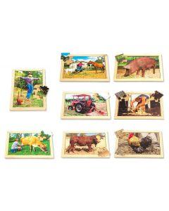 On the Farm Puzzles & Posters Set 16pcs