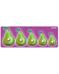 Knobbed Pear Sequence Puzzle 5pcs