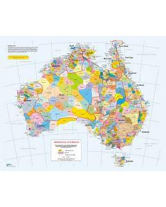 Indigenous Languages Map A3 Puzzle 24pcs