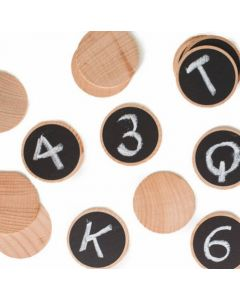 Create and Play Wooden Blackboard Discs 20pcs