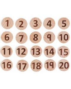Wooden Tactile Numbers Game 40pcs