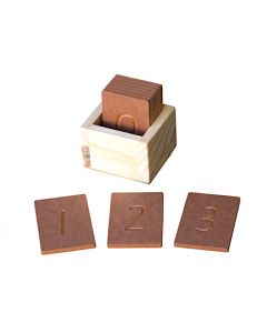 Wooden Finger Tracing Number Cards 10pcs