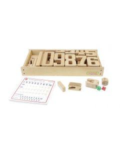Wooden Unit Number Blocks Set 32pcs