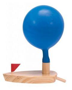 Wooden Balloon Boat 14cmL