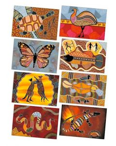 Large Aboriginal Art Posters Set of 8